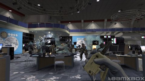 Call Of Duty 4 Marines Tv Station
