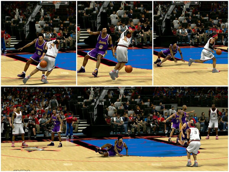nba 2k13 Allen Iverson Ankle Breaking Maneuver